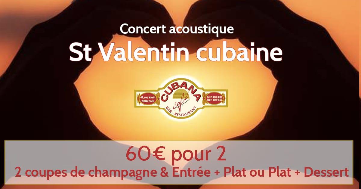 La Saint Valentin à Cuba au Cubana Café Restaurant cubain à Paris