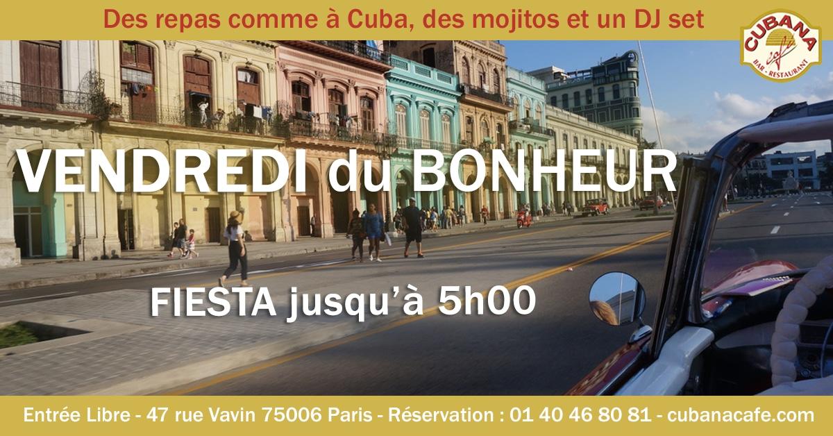 Cubana Café Les vendredis du bonheur - Soirée latine le vendredi - Restaurant, bar à cocktails, fumoir - Paris Montparnasse