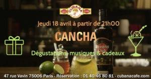Soirée Cubana Café et Rhum cubain Havana Cancha le 18 avril 2019 Bar à cocktails, fumoir, restaurant Montparnasse