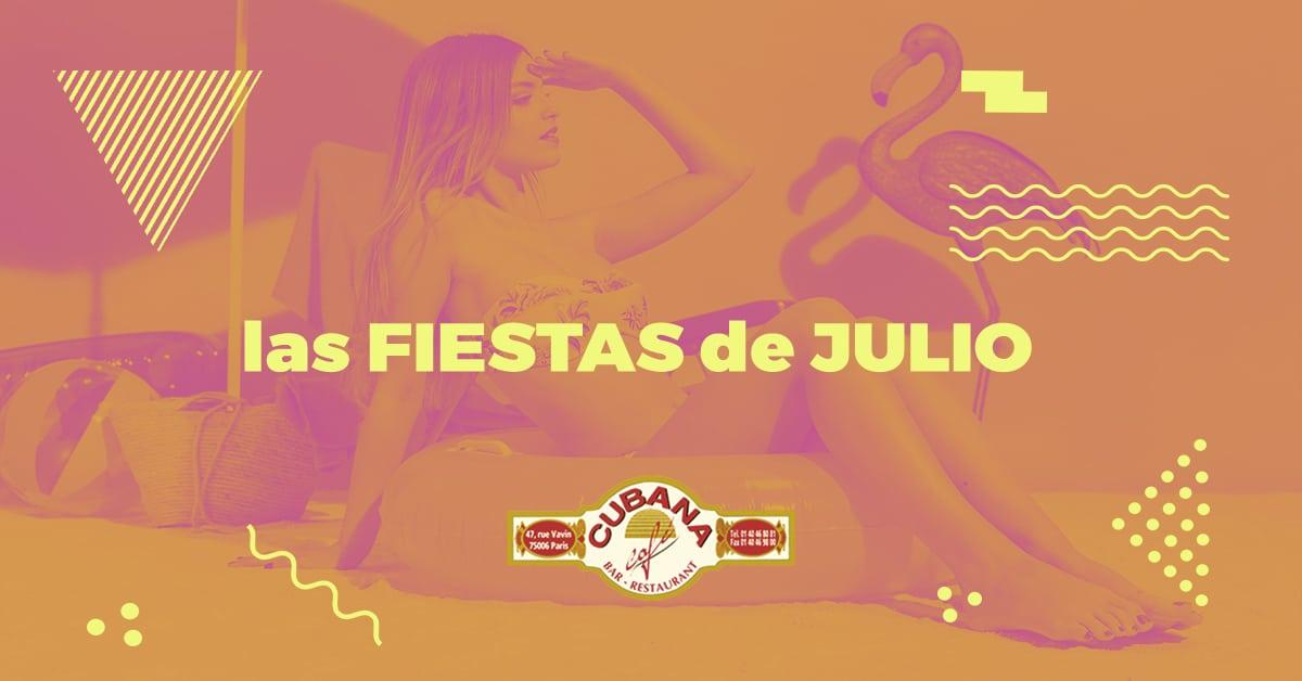 Cubana Café soirées latines parisiennes de Juillet 2019