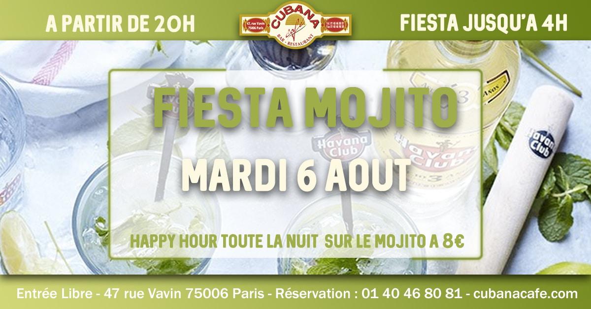 Fiesta Mojito le mardi 6 août 2019 au Cubana Café