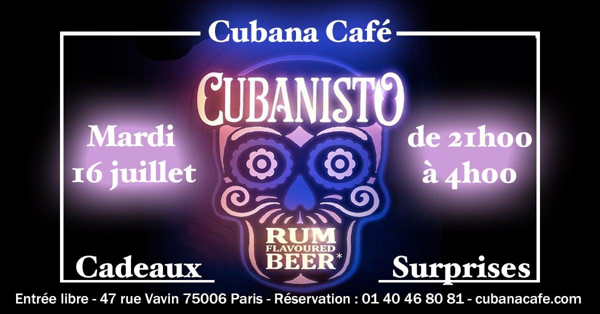 Fiesta Cubanisto 16 juillet 2019 Cubana Café