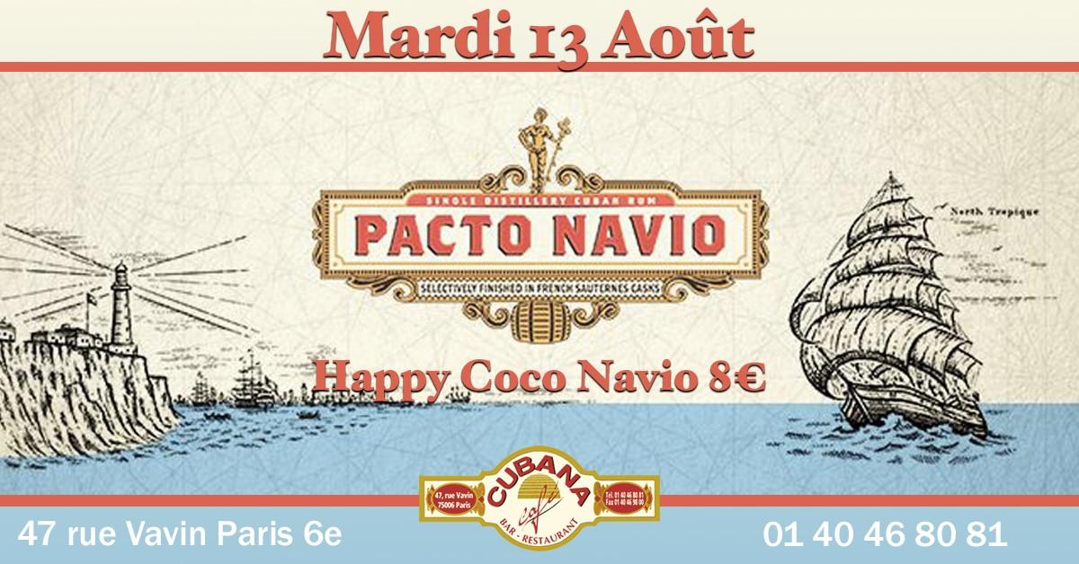 Soirée Cubana Café et Rhum cubain Pacto Navio le mardi 13 août 2019 Bar à cocktails, fumoir, restaurant Paris Montparnasse