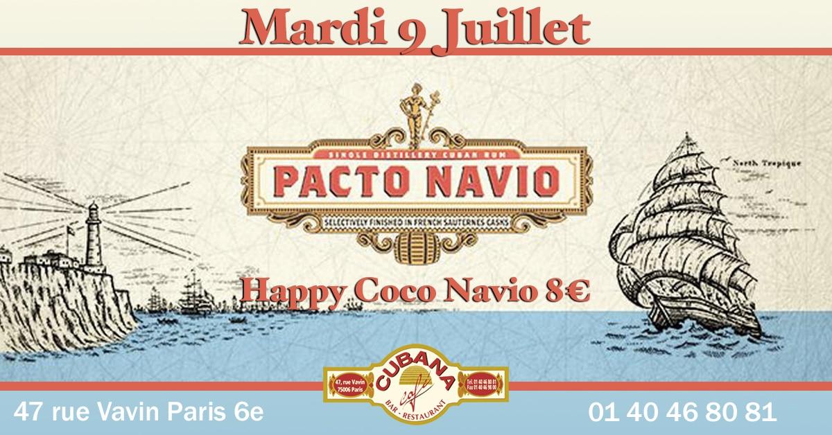 Soirée Cubana Café et Rhum cubain Pacto Navio le mardi 9 juillet 2019 Bar à cocktails, fumoir, restaurant Paris Montparnasse