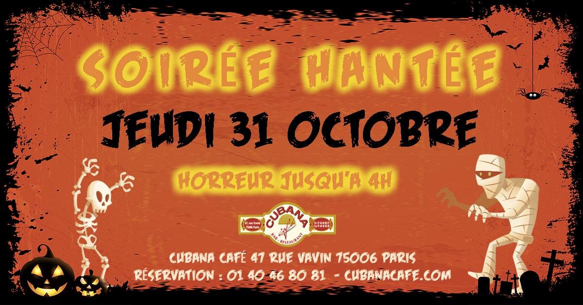 Soirée Halloween à Paris au Cubana Café