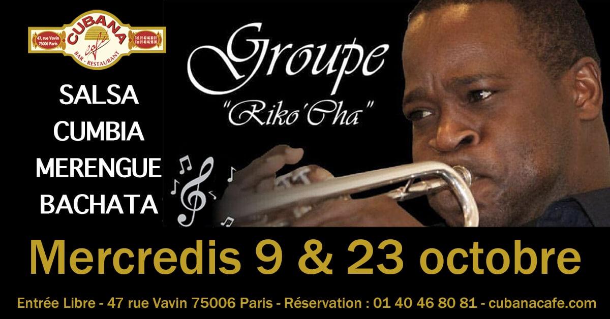 Groupe Riko'Cha en concert mercredi 9 et 23 octobre au Cubana Café Paris