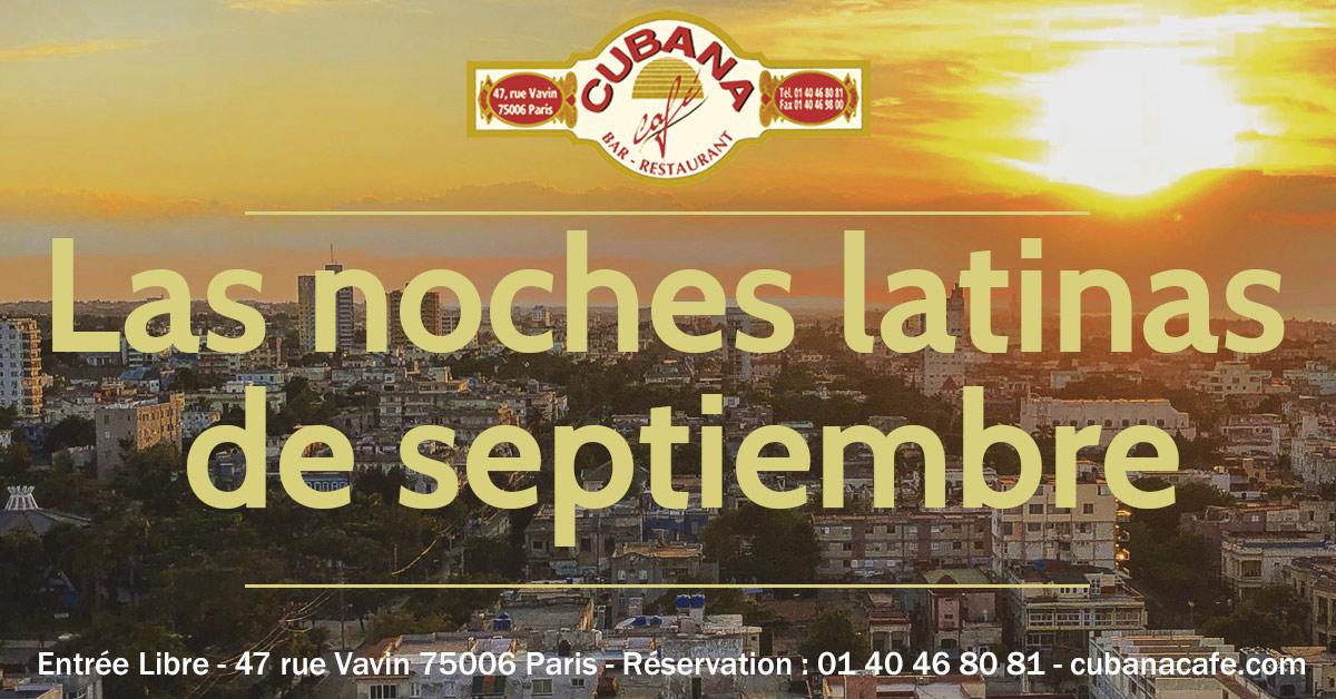 Cuba à Paris en septembre au Cubana Café Restaurant Bar Fumoir à Montparnasse