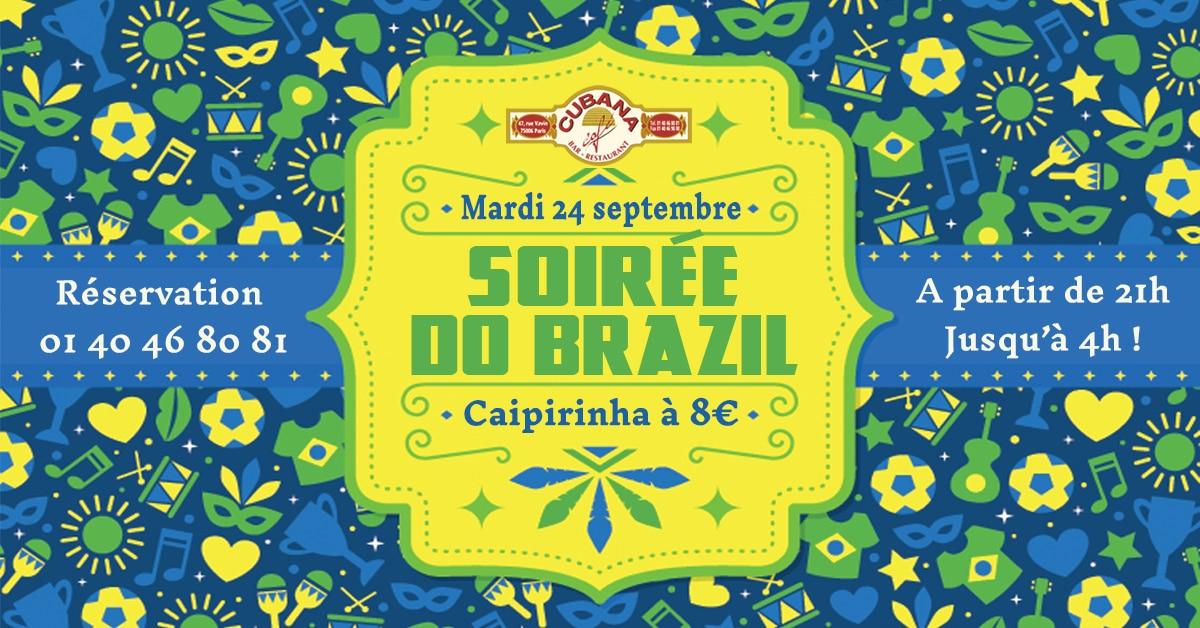 Soirée Do Brazil Cubana Café Cuba à Paris en septembre