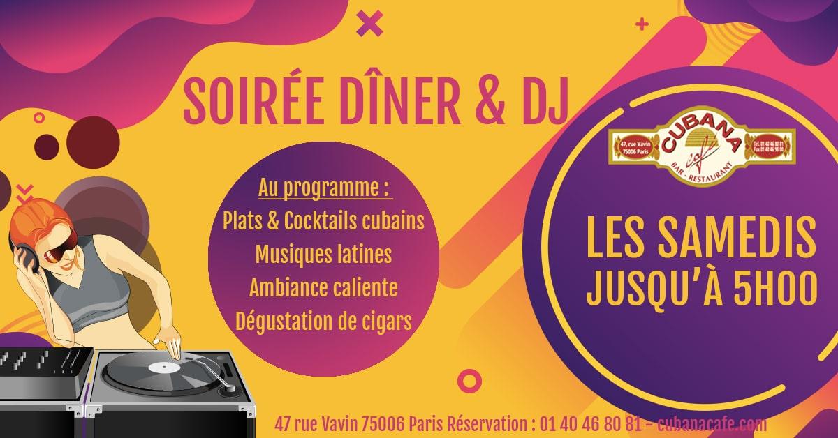 Cubana Café Les samedis fiesta 2019 - Soirée latine le samedi et animation DJ - Restaurant, bar à cocktails, fumoir - Paris Montparnasse