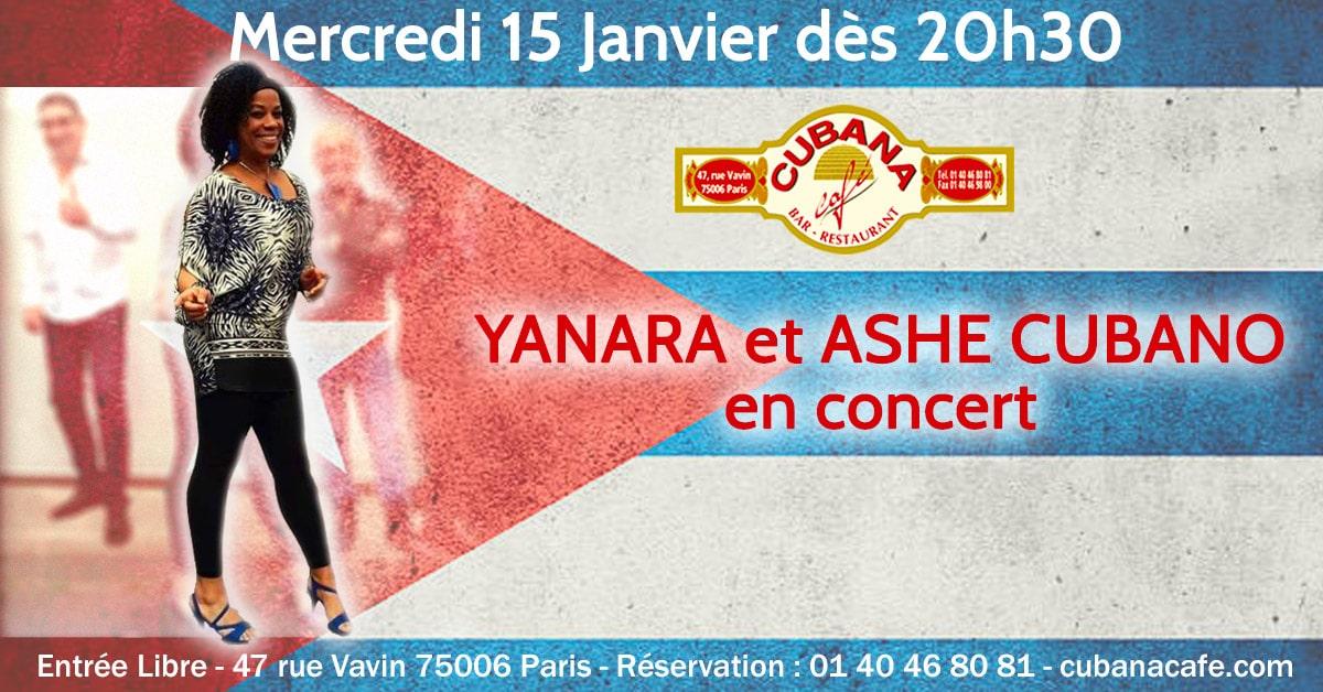 Cubana Café 15 janvier Concert Yanara Ashe