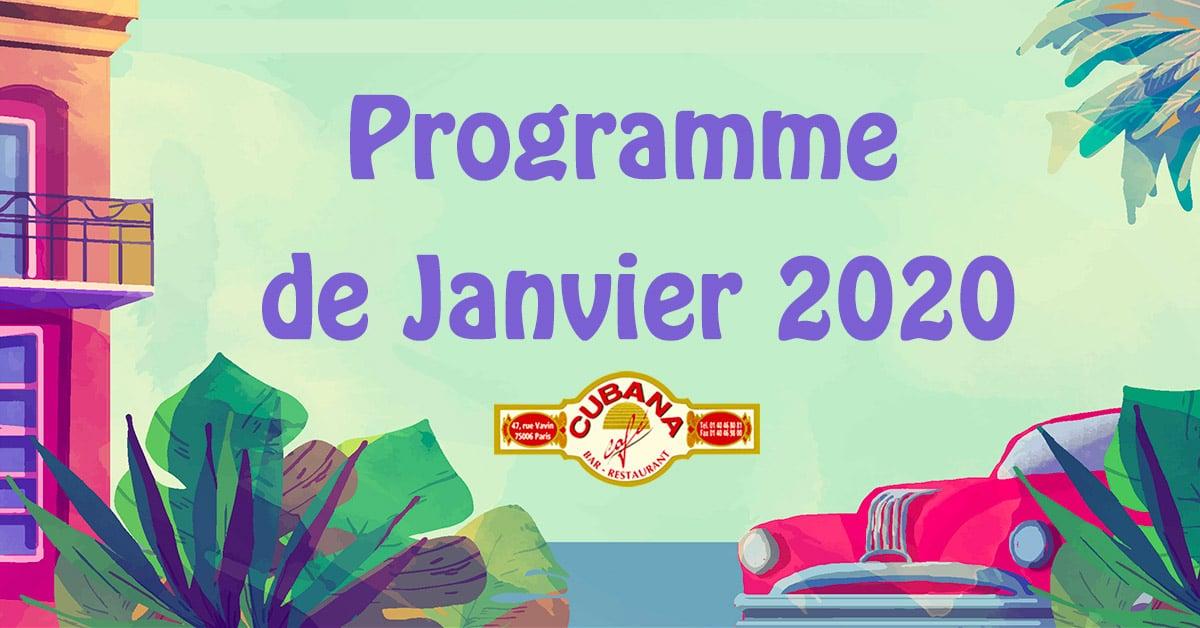 Cubana Café - Programme de janvier 2020
