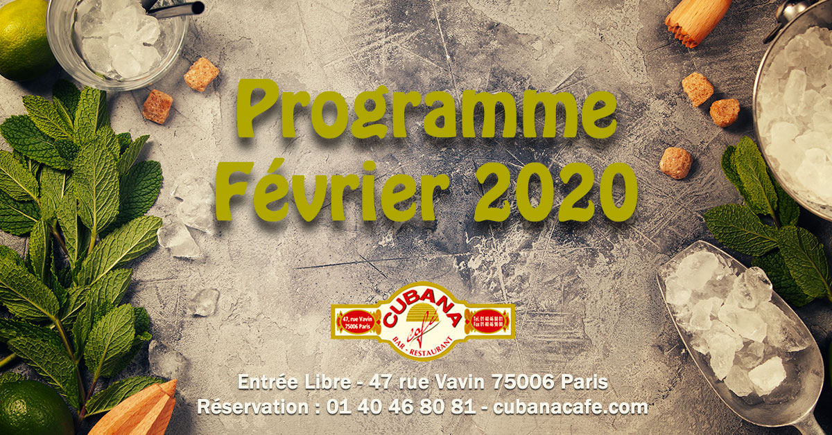 Cubana Café Restaurant Montparnasse en février