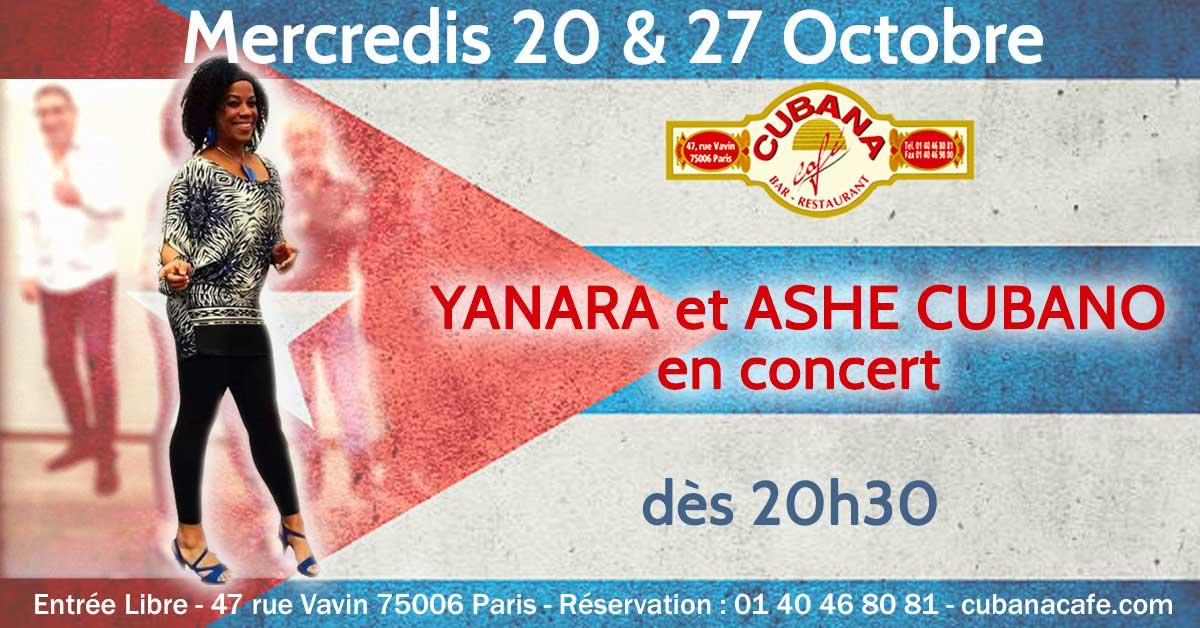 Cubana Café 18 mars Concert Yanara Ashe