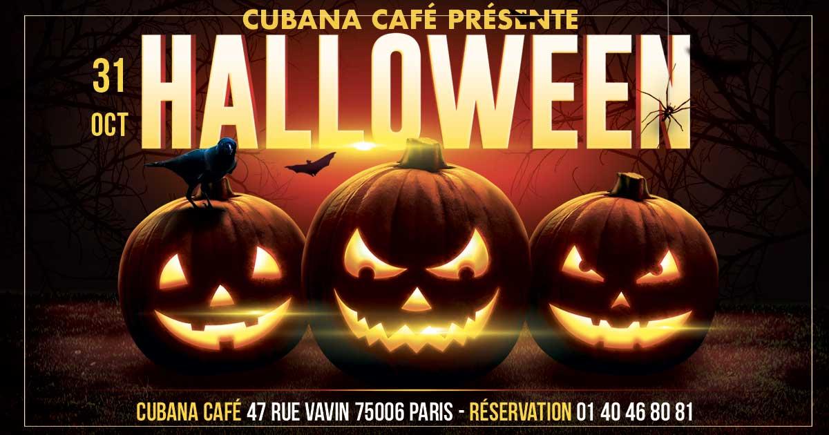 Soirée d'Halloween à Paris en 2021 au Cubana Café à Montparnasse