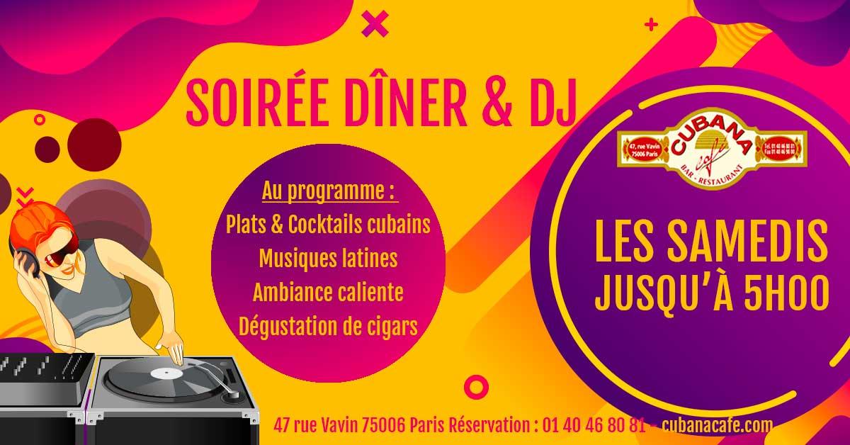 Cubana Café Les samedis fiesta d'octobre 2021 - Soirée latine le samedi et animation DJ - Restaurant, bar à cocktails, fumoir - Paris Montparnasse